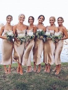Simple Spaghetti Straps Long Bridesmaid Dresses 99601308