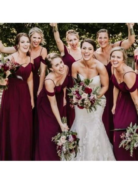 A-Line Simple Spaghetti Straps Long Bridesmaid Dresses 99601312