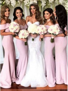 Mermaid Off-the-Shoulder Long Bridesmaid Dresses 99601315