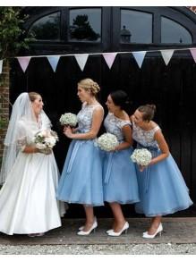 A-Line Lace Long Bridesmaid Dresses 99601328