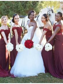 Lace Off-the-Shoulder Bridesmaid Dresses 99601329
