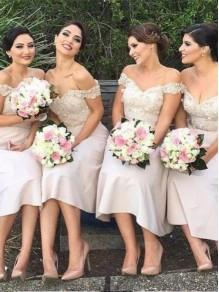 A-Line Lace Off-the-Shoulder Bridesmaid Dresses 99601332