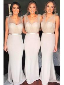 Mermaid V-Neck Long Bridesmaid Dresses 99601336