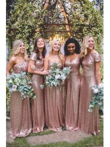 Affordable Sequins Long Bridesmaid Dresses 99601338