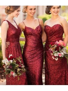 Affordable Sequins Long Bridesmaid Dresses 99601339