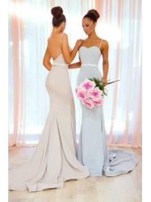Mermaid Spaghetti Straps Long Bridesmaid Dresses 99601343