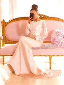 Mermaid Lace Long Sleeves Long Bridesmaid Dresses 99601344