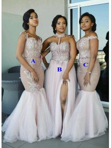 Long Lace and Tulle Bridesmaid Dresses 99601349
