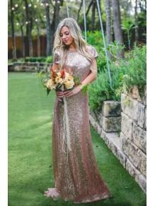 Long Sequins Bridesmaid Dresses 99601352