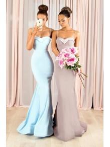 Mermaid Spaghetti Straps Long Bridesmaid Dresses 99601359