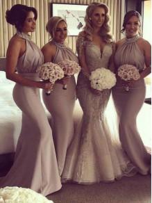 Mermaid Beaded Long Bridesmaid Dresses 99601361