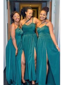 A-Line One-Shoulder Long Bridesmaid Dresses 99601365