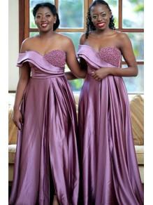 A-Line Beaded Long Bridesmaid Dresses 99601369