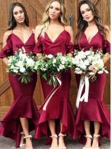 Mermaid Spaghetti Straps Long Bridesmaid Dresses 99601372