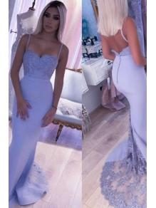 Mermaid Spaghetti Straps Long Lace Bridesmaid Dresses 99601373
