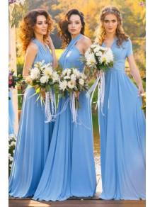 A-Line Chiffon Long Bridesmaid Dresses 99601377