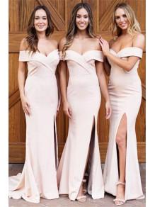 Mermaid Off-the-Shoulder Long Bridesmaid Dresses 99601379