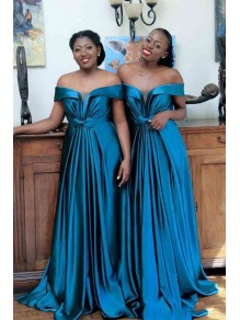 A-Line Off-the-Shoulder Long Bridesmaid Dresses 99601388