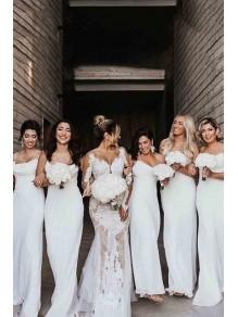 Sheath Spaghetti Straps Long Bridesmaid Dresses 99601389