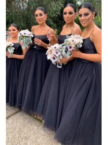 A-Line Spaghetti Straps Long Bridesmaid Dresses 99601391