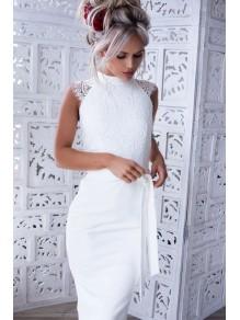 Short Lace Knee Length Bridesmaid Dresses 99601397