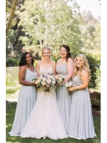 A-Line Spaghetti Straps Long Bridesmaid Dresses 99601400