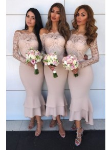 Mermaid Lace long Sleeves Bridesmaid Dresses 99601401