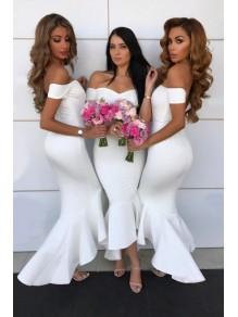 Mermaid Off-the-Shoulder Bridesmaid Dresses 99601402