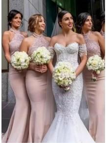 Mermaid Long Lace Bridesmaid Dresses 99601405