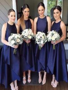 Simple Navy Blue Bridesmaid Dresses 99601408