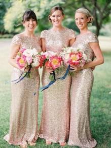 Long Sequins Floor Length Bridesmaid Dresses 99601411