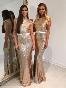 Memraid Sequins Long Floor Length Bridesmaid Dresses 99601413