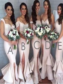 Mermaid Sequins Off-the-Shoulder Floor Length Bridesmaid Dresses 99601414