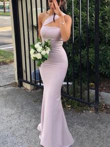 Mermaid One-Shoulder Floor Length Bridesmaid Dresses 99601421