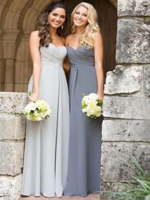 Empire Sweetheart Chiffon Floor Length Bridesmaid Dresses 99601429
