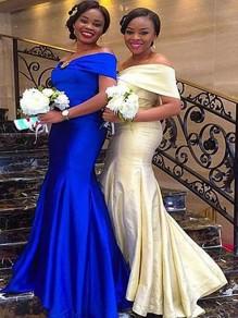 Mermaid Off-the-Shoulder Plus Size Floor Length Bridesmaid Dresses 99601431
