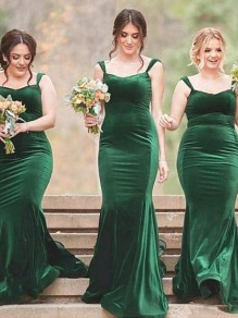 Mermaid Long Plus Size Floor Length Bridesmaid Dresses 99601432