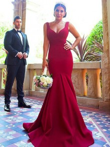 Mermaid Long Floor Length Bridesmaid Dresses 99601434