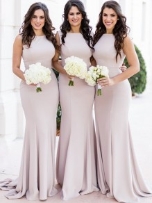 Mermaid Long Floor Length Bridesmaid Dresses 99601438