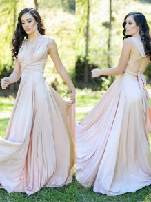 A-Line Floor Length Bridesmaid Dresses 99601442