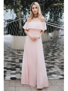A-Line Off-the-Shoulder Floor Length Bridesmaid Dresses 99601444