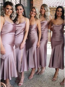 Sheath Spaghetti Straps Bridesmaid Dresses 99601445