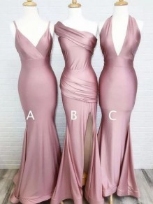 Mermaid Floor Length Bridesmaid Dresses 99601457