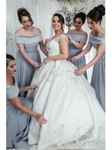 A-Line Off-the-Shoulder Floor Length Bridesmaid Dresses 99601463