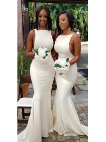 Long Mermaid Floor Length Bridesmaid Dresses 99601478