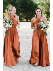 A-Line Long Floor Length Bridesmaid Dresses 99601485
