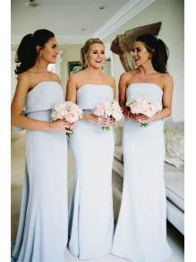 Mermaid Strapless Long Floor Length Bridesmaid Dresses 99601490