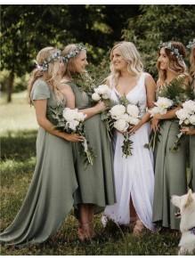 Simple V-Neck Bridesmaid Dresses 99601491