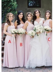 A-Line Long Chiffon Floor Length Bridesmaid Dresses 99601495