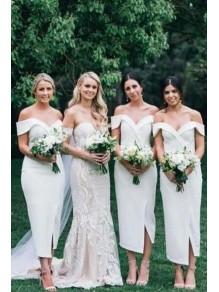 Sheath Off-the-Shoulder Bridesmaid Dresses 99601496